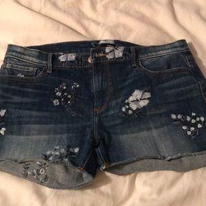Jean embellished shorts